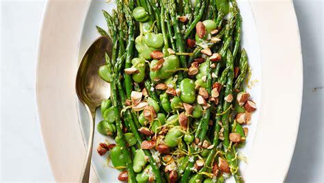asparagus  fava beans  toasted almonds