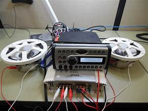 Clarion Cmd4 Marine Stereo Head Unit W   Wire Harness - Tested