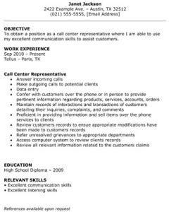 call center representative resume the resume template site
