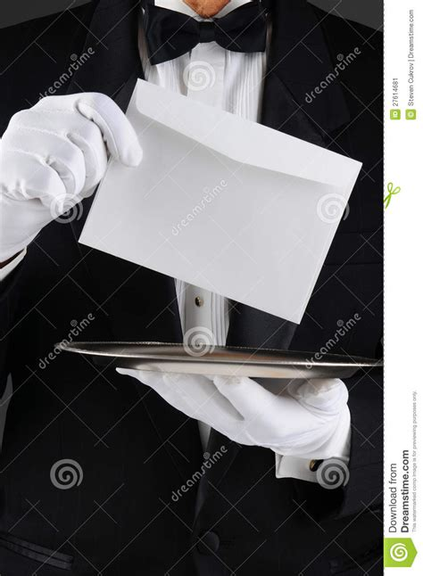 butler  tray  letter stock image image