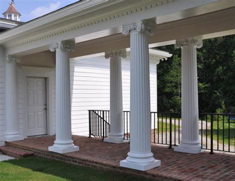 decorative concrete pillars exterior columns image gallery melton classics inc