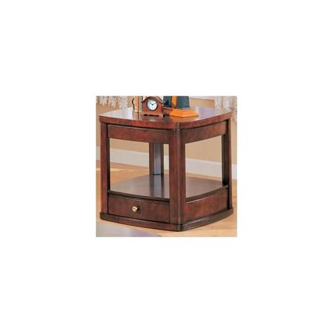 side table with drawer and shelf coaster evans contemporary end table with drawer and shelf