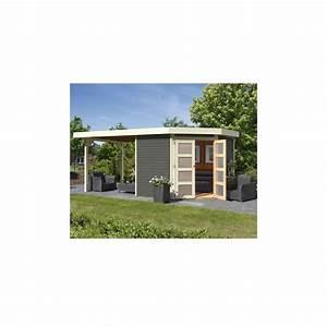 Abri De Jardin Toit Plat : abri de jardin toit plat 5 95m gris 19mm goldendorf karibu ~ Dailycaller-alerts.com Idées de Décoration