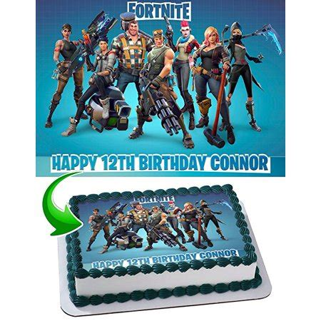 Personalized Birthday Cake Images Fortnite Cake Image Personalized Topper Edible Image Cake