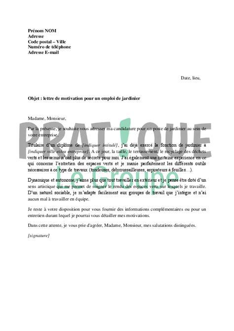 lettre motivation apprentissage cuisine lettre de motivation pour un emploi de jardinier pratique fr