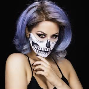 Halloween Half Skeleton Face Makeup