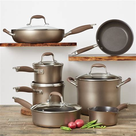 anolon professional hard anodized nonstick  piece cookware set review unlimited recipes