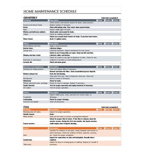 home repair checklist template home maintenance checklist home maintenance schedule