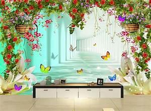 Customized 3d wallpaper 3d wall mural wallpaper mural