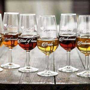 7 personalized bridesmaid wine glasses bridesmaids With personalized wine glasses wedding gift