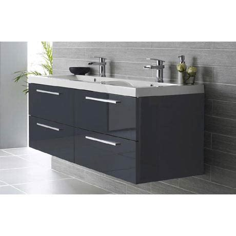 shop hudson reed quartet double basin vanity unit