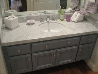kitchen pro cabinets grey and white guest bath update marble calabasas 2467