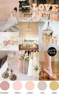 wedding color palettes blush gold wedding theme wedding color palette