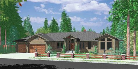 Ranch House Plan With Walkout Lower Level 8143LB
