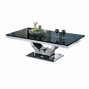 Table Basse Marbre But : table basse design en inox massif et marbre ou verre nova pop desig ~ Teatrodelosmanantiales.com Idées de Décoration