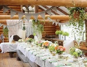 Mariage Theme Champetre : deco table mariage champetre le mariage ~ Melissatoandfro.com Idées de Décoration