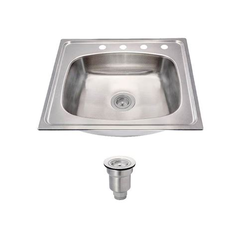 drop in kitchen sinks single bowl kohler toccata drop in stainless steel 25 in 4 hole
