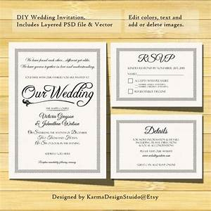 wedding invitation template instant download printable With free printable wedding invitations and rsvp cards