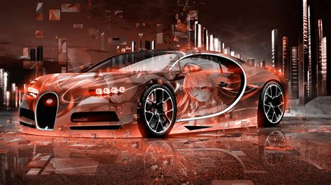 bugatti chiron  super anime girl aerography neural
