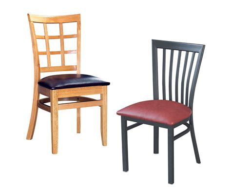 metal vs wood restaurant chairs restaurant seating