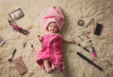 Baby Bilder Ideen by 4 Month Baby Pink Make Up Towels Photography Ideas