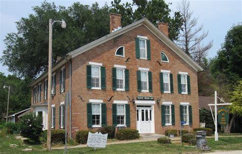 Iowa House Hotel - 1846 house inn bentonsport iowa history and