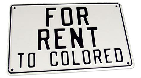 colored signs jim laws separate is not equal