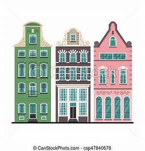 ensemble vieux facades maisons 3 amsterdam dessin With dessin plan de maison 3 dessin de ville damsterdam illustration de vecteur