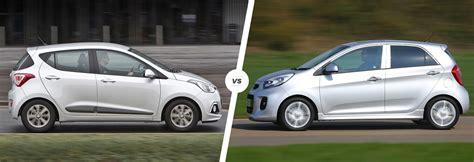 Hyundai i10 vs Kia Picanto comparison   carwow