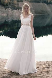 destination sleeveless a line ivory chiffon floor length With i need a dress for a wedding