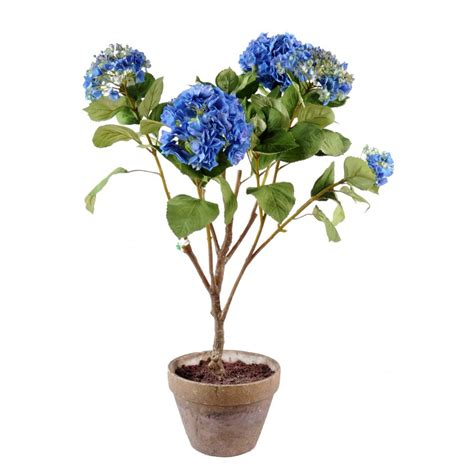 hortensia artificiel bleu 105 cm de haut 75 cm large pot