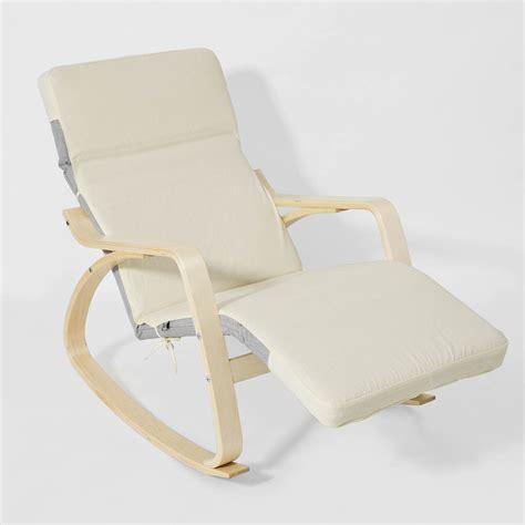 sobuy rocking chair fauteuil à bascule fauteuil berçante