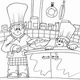 Chef Coloring Pages Cooking Colouring Printable Chefs Fat Drawing Printables Getcoloringpages Utensils Apron sketch template