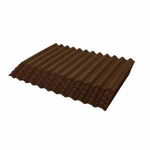 Ondura Brown Jumbo Shingle Corrugated Shingle 75 sq ft
