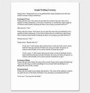 wedding outline template 13 for word and pdf format With simple wedding ceremony script