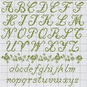 cross stitch cursive alphabet 1000 ideas about cross With embroidery letter patterns