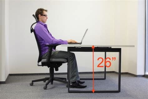what is desk height ergonomic table height for laptops desktops with big