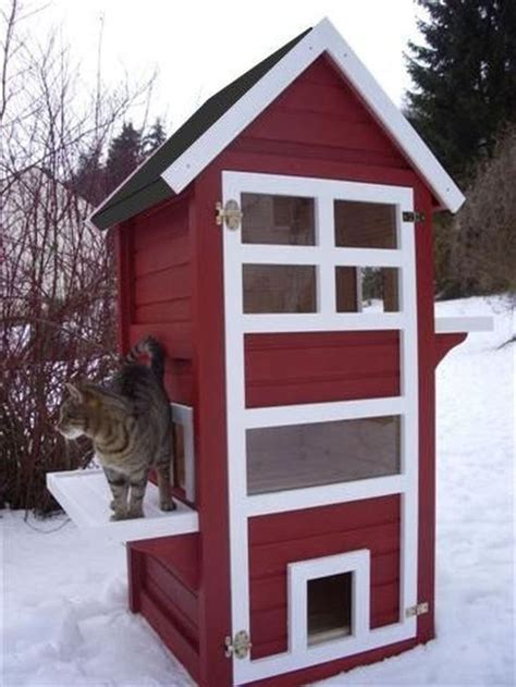 cute  awesome cat house ideas  outdoor cat house cat house diy feral cat house