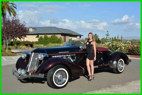 replica kit makes speedster convertible 1936 black for sale dmv70709ca 1936 auburn boattail