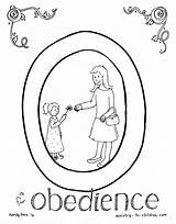 Coloring Obey Obedience Sons Parable sketch template