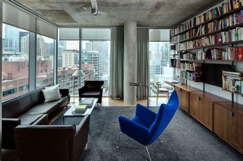 living room apartment high rise apartment industrial living room chicago Industrial