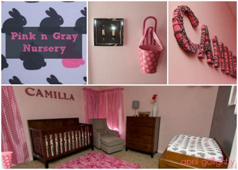 nursery decor gray and pink april golightly