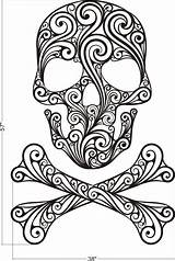 Skull Sugar Crossbones Coloring Adult Printable Mandala Halloween Visit Bones Sheets sketch template