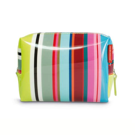 trousse de toilette colour stripes trousse plastifi 233 e et color 233 e par remember
