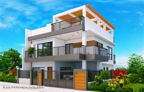 arabella  bedroom modern  storey  roof deck mhd  pinoy eplans