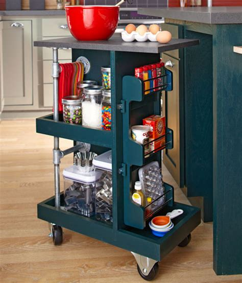rolling kitchen island with storage kitchen storage ideas that are easy and affordable 7802
