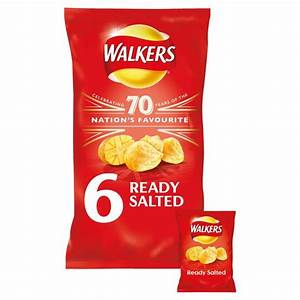 Morrisons: Walkers Ready Salted Crisps 6 x 25g(Product ...