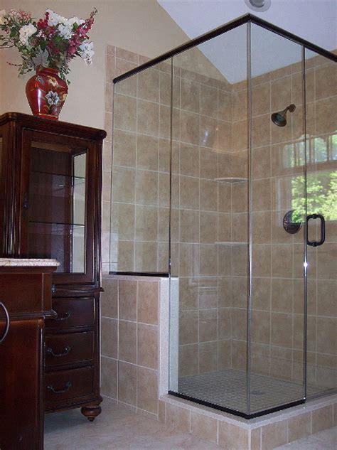 spacious corner walk  shower renovisions