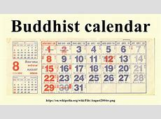 Buddhist calendar YouTube