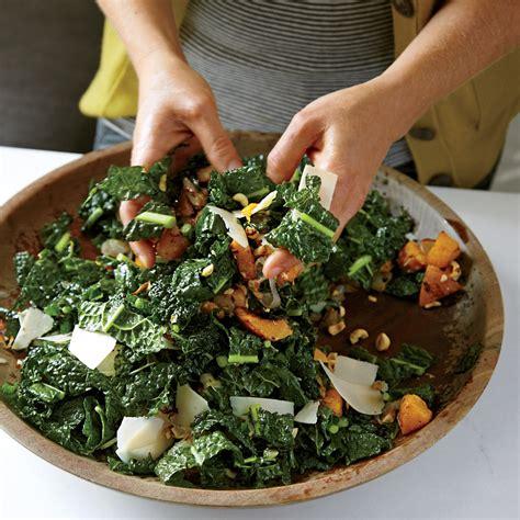 lacinato kale salad  roasted squash